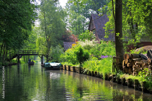 Spreewald Haus am Fliess - Spree Forest house on the water Fototapete