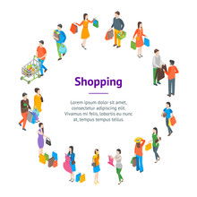 Shopping People 3d Banner Card...