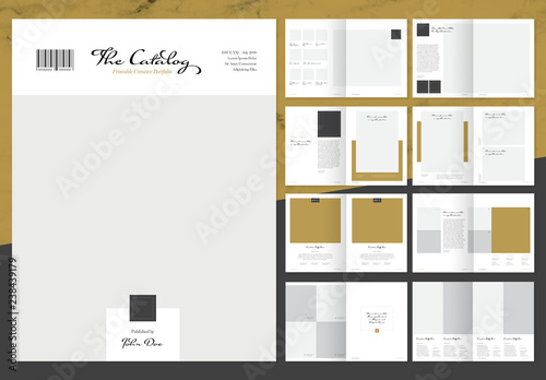 Elegant Product Catalog Layout With Gold Accents Acheter Ce