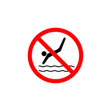 Forbidden Swimming Icon Can Be Used For Web, Logo, Mobile App, UI, UX
