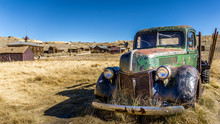 Old Abandoned Rusty Pickup Truck At Bodie Ghost Town, California