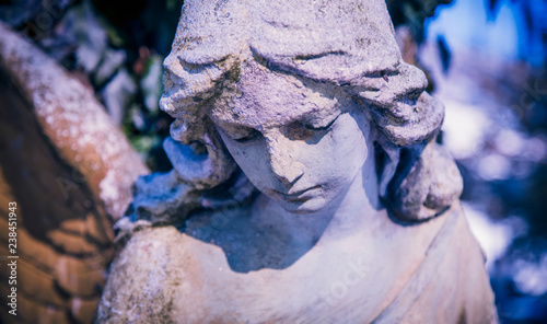 Antique statue of sad angel as a symbol of eternity, life and death Canvas-taulu