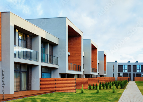 Vászonkép  Apartment residential townhouse buildings with outdoor concept