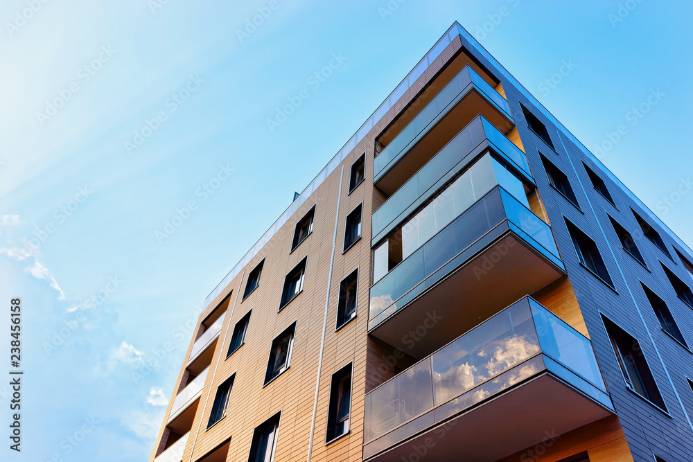 Fototapety, obrazy: New modern apartment building exterior