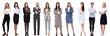 canvas print picture - Collection of full-length portraits of young business women