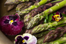 Close Up Of Asparagus With Flowers