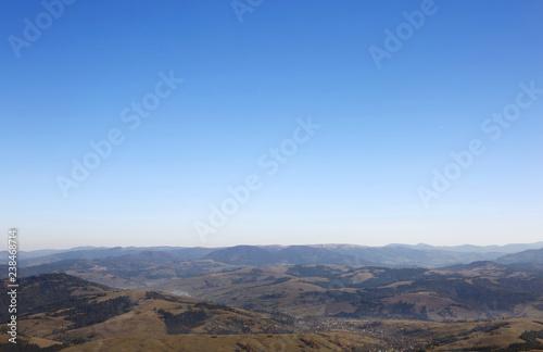 Fotografie, Obraz  Beautiful mountain landscape with blue sky on sunny day