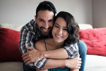 Portrait Of Happy Loving Coupl...