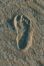 Overhead View Of Footprint On ...