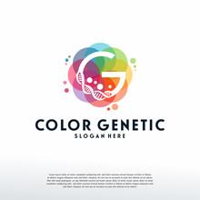 Colorful Genetic Logo Vector, ...