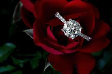 1.5 Carat Diamond Ring On Red ...