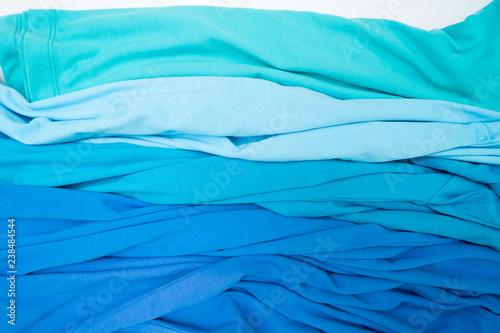 Fototapety, obrazy: Blue T-shirt on white background