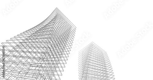 architecture background 3d illustration