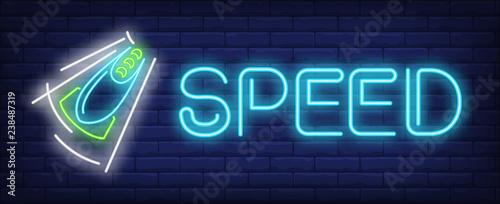 Obraz na plátně Speed neon sign