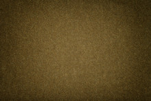 Dark Brown Matt Suede Fabric Closeup. Velvet Texture Of Felt.