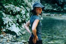 Portrait Of Woman Wearing Hat ...