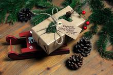 High Angle View Of Christmas P...