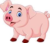 Fototapeta Fototapety na ścianę do pokoju dziecięcego - Cute pig cartoon
