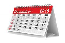 2019 Year. Calendar For Decemb...