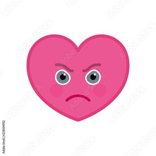 Fotografija  Frenzied heart shaped funny emoticon icon