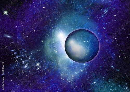 Fototapety, obrazy: galaxy in a free space