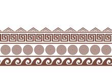 Old Greek Seamlesshorizontal Border Design. Vector Illustration