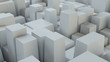 Abstract White Cubes Wall Background