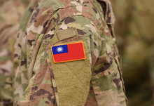 Flag Of Taiwan On Soldiers Arm...