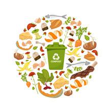 Round Template Organic Waste T...