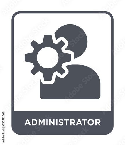 Photographie administrator icon vector