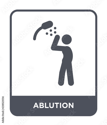 ablution icon vector Wallpaper Mural