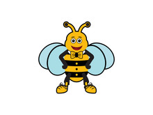 Bee Mascot Vector Illustration