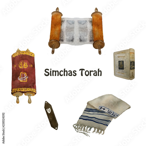 Valokuva Jewish Holiday, Simchat Torah translation: Rejoicing of with the Torah