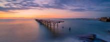 Panorama Of A Broken Pier In Varna, Bulgaria