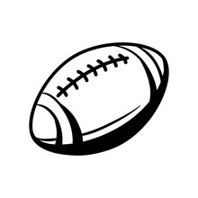 Black And White Rugby Ball.