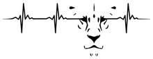 Lion Heartbeat #isoliert #vektor - Löwe Herzschlag
