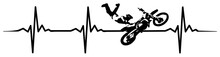 Motocross Heartbeat #isoliert ...