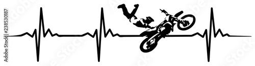 motocross heartbeat #isoliert #vektor - MX Herzschlag фототапет