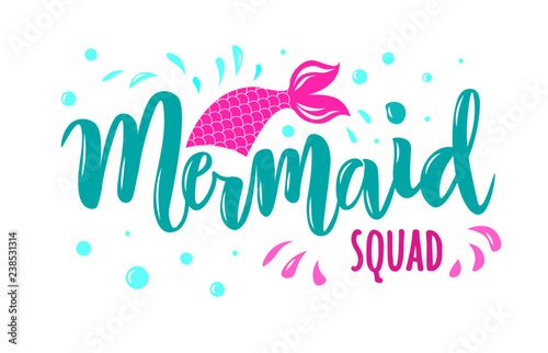 Photographie  Hand sketched Mermaid text