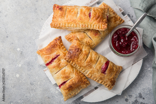 Photo puff pastry stuffed with berries