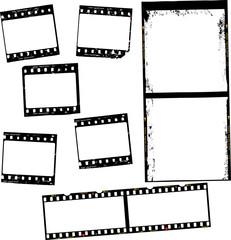 photographic film, film stripes, various formats, negativs, photo frames, free copy space,vector