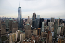 Aerial View Of New York Downtown Skyline And The Freedom Tower