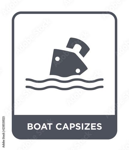 Photo boat capsizes icon vector