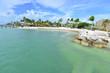 Key colony beach at Marathon at the Florida Keys.