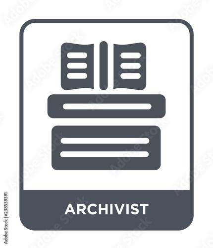 archivist icon vector Canvas Print