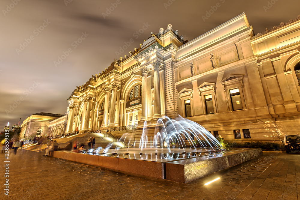 Fototapety, obrazy: The Metropolitan Museum of Art in New York at Night