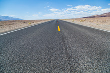 Death Valley Road Straight Acr...