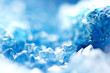 Beautiful texture of Blue crystals. mineral its blurred natural background. Winter Beautiful background. Macro