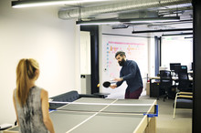 Work Colleagues Playing Ping P...