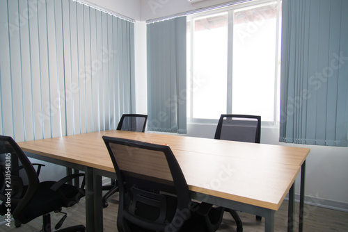 Modern Meeting Room Of Business Company Wooden Table And Four Chairs Around Near Window With Curtains Office Interior Concept Buy This Stock Photo And Explore Similar Images At Adobe Stock,Farmhouse Front Door Wreath Ideas